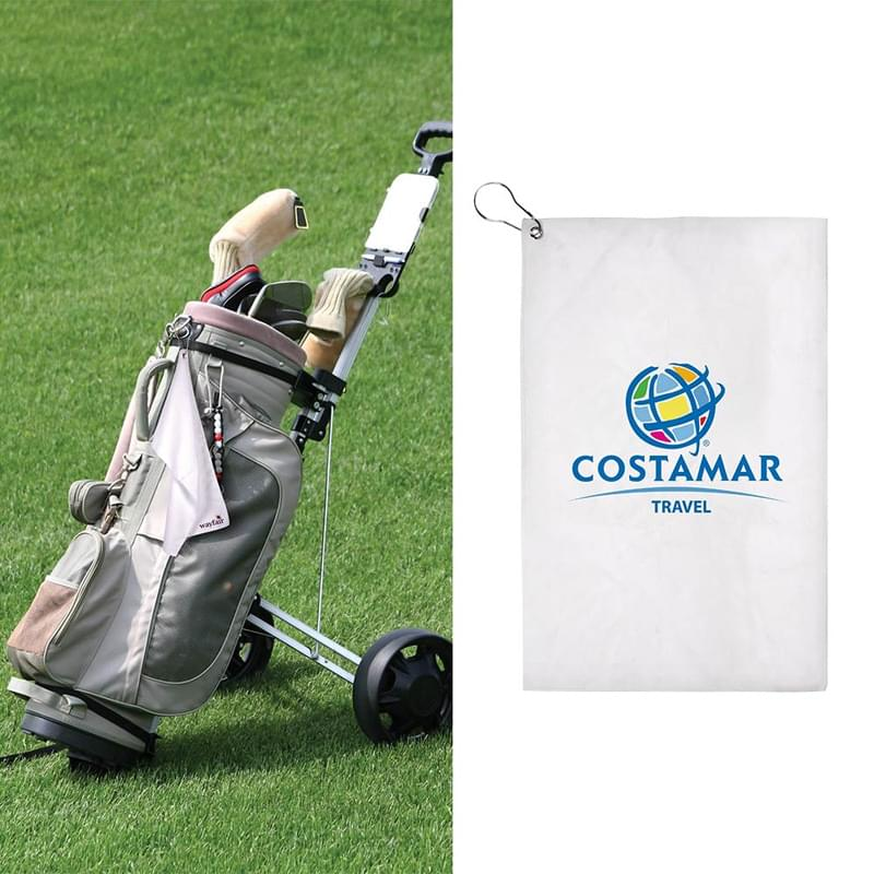 17x11 Sublimated Golf Towel - 200GSM