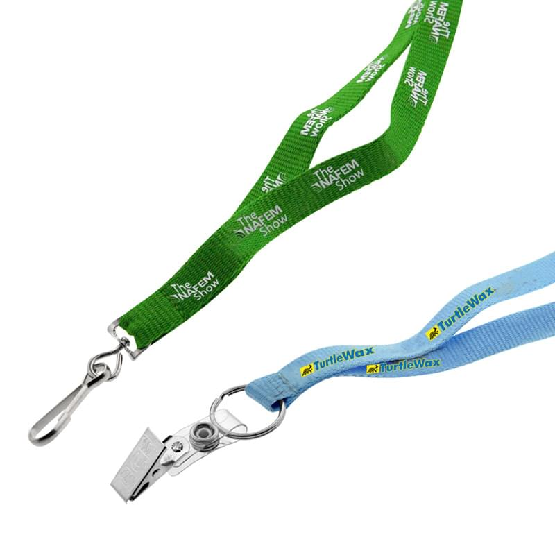 1/2? Recycled Screen Printed Lanyard
