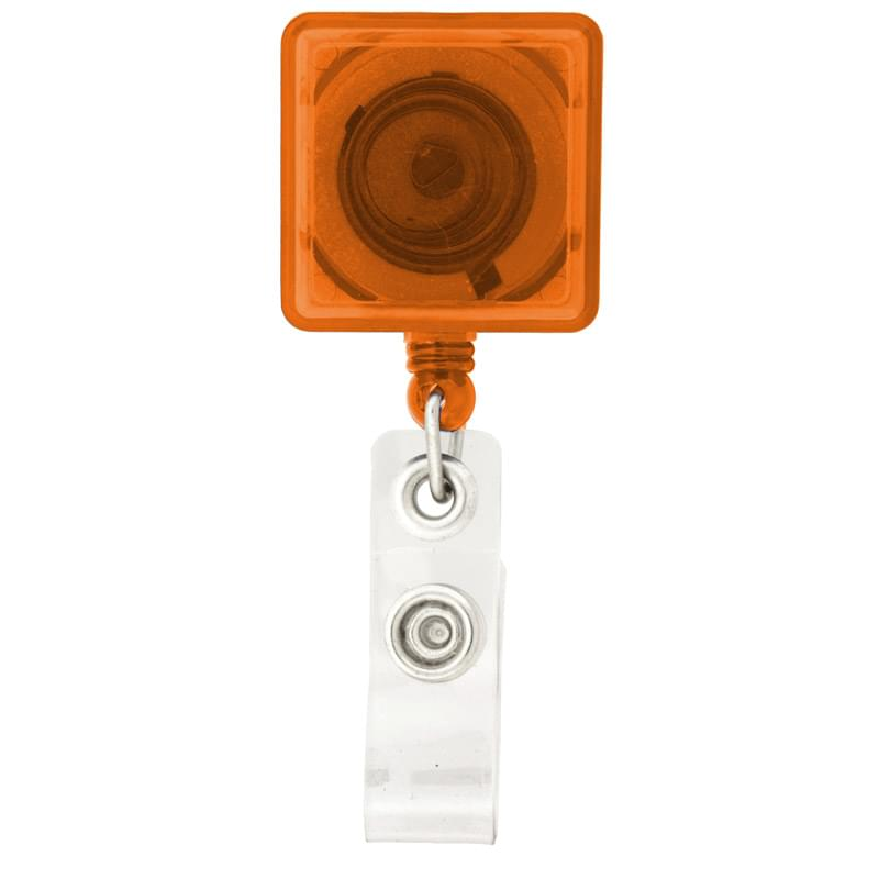 Square-Shaped Retractable Badge Holder
