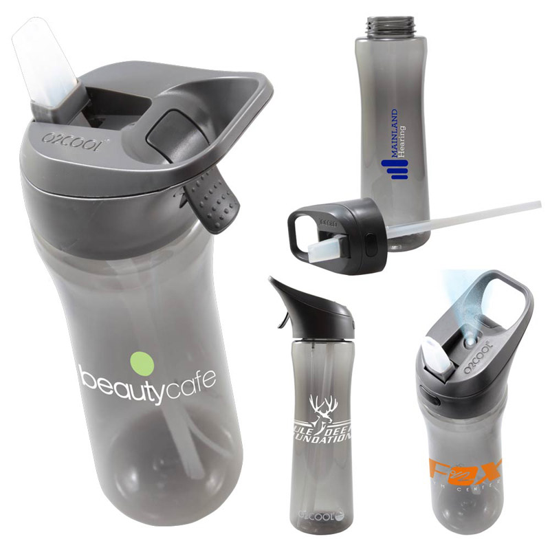 O2 Cool® Ergo Bottle w/Brighton Mist in Sip Top