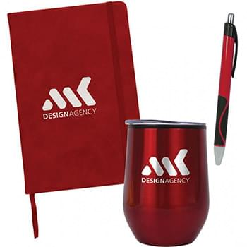 Cinch Kit: Vacuum Sealed Mug, Notebook And Pen
