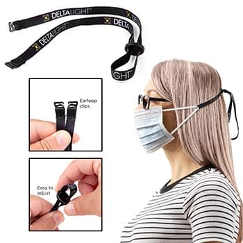 Adjustable Clip-On Ear Saver Behind The Head Face Mask Loop Holder Full Color Dye-Sub