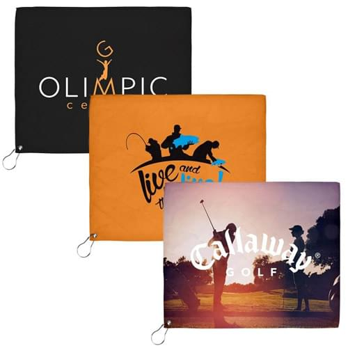 18x15 Sublimated Golf Towel - 200GSM