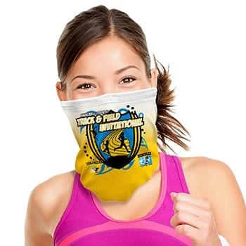 "Antimicrobial Graphic Sport Mesh Cooling Neck Gaiter Face Mask With SILVADURâ""¢ & Odor Control"