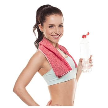 "Antimicrobial Comfort Mesh Cooling Towel With SILVADURâ""¢ & Odor Control"