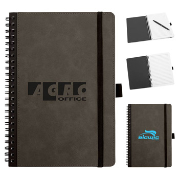 Faux Leather Spiral-Bound Notebook