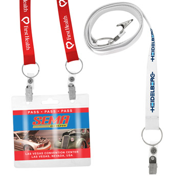 3/4'' Recycled Screen Printed Dual Attachment Lanyard