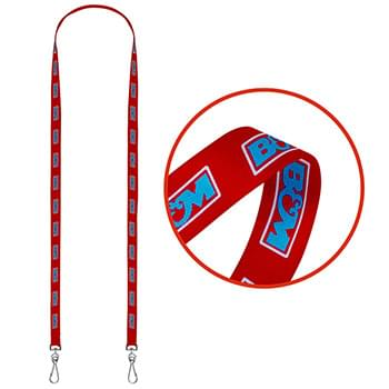 "3/8"" Dual LA-115 Sublimation Lanyard"