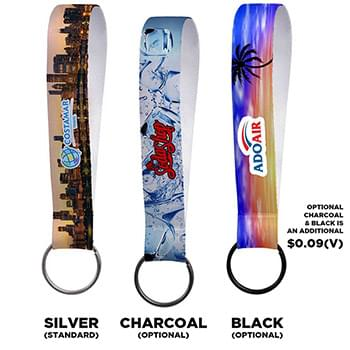 "3/4"" Sublimation Key Chain Lanyard"