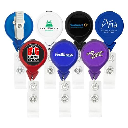 Tear Drop Retractable Badge Holder