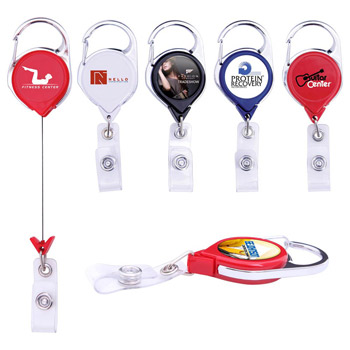 Premium Carabiner Retractable Badge Holder