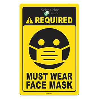 "Face Mask Required COVID-19 Coronavirus Prevention Custom Utility Sign 5.5""x8.5"" Hard 60 Mil Styrene Card"