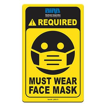 "Face Mask Required COVID-19 Coronavirus Prevention Custom Utility Sign 2.5""x4"" Hard 60 Mil Styrene Card"