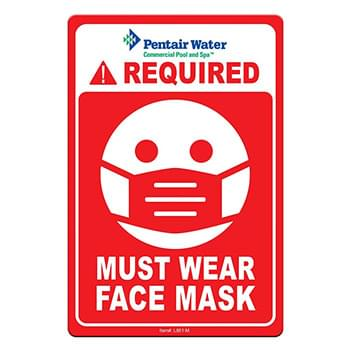 "Face Mask Required COVID-19 Coronavirus Prevention Custom Warning Sign 4""x6"" Hard 60 Mil Styrene Card"