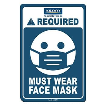 "Face Mask Required COVID-19 Coronavirus Prevention Custom Office Sign 4""x6"" Hard 60 Mil Styrene Card"